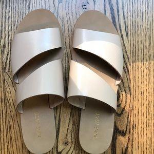 Nine West nude leather sandals